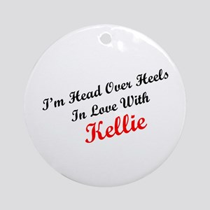 In Love with Kellie Ornament (Round)