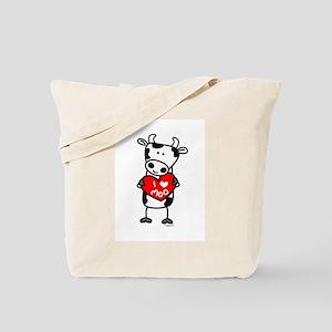 I Love Moo Cow Tote Bag