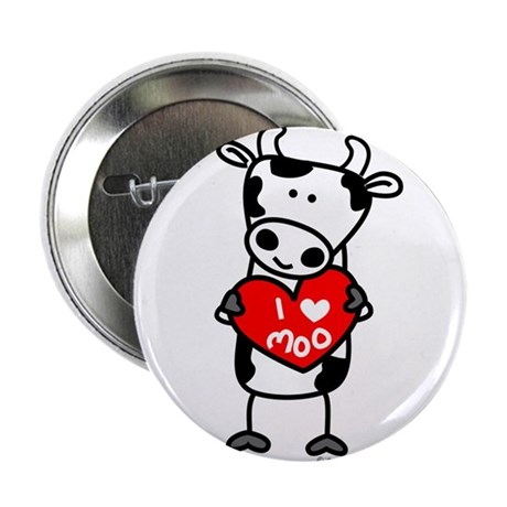 "I Love Moo Cow 2.25"" Button (100 pack)"