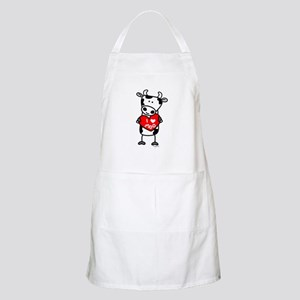 I Love Moo Cow BBQ Apron