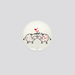Cows in Love Mini Button