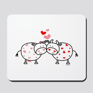 Cows in Love Mousepad