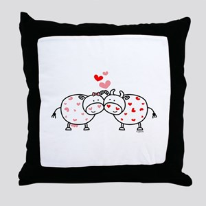 Cows in Love Throw Pillow