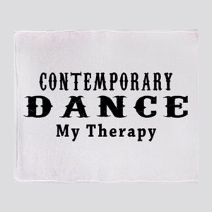 Contemporary Dance My Therapy Throw Blanket