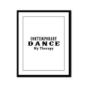 Contemporary Dance My Therapy Framed Panel Print