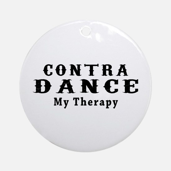 Contra Dance My Therapy Ornament (Round)