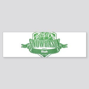 Snowbasin Utah Ski Resort 3 Bumper Sticker