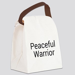 Peaceful Warrior Canvas Lunch Bag