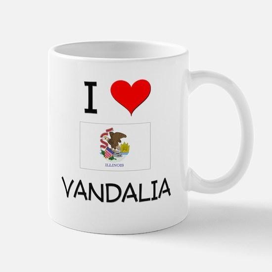 I Love VANDALIA Illinois Mugs