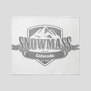 Snowmass Colorado Ski Resort 5 Throw Blanket