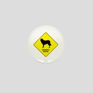 Labradoodle Crossing Mini Button