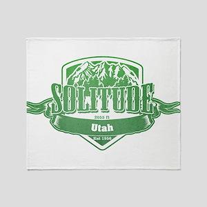 Solitude Utah Ski Resort 3 Throw Blanket