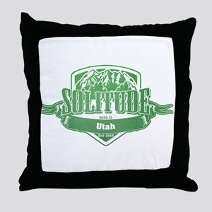 Solitude Utah Ski Resort 3 Throw Pillow