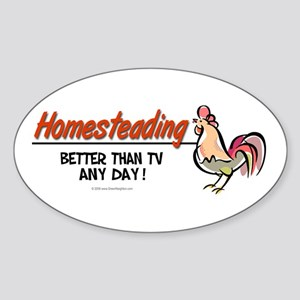 Homesteading Oval Sticker