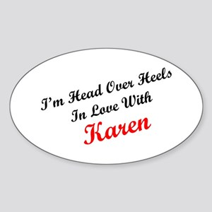 In Love with Karen Oval Sticker