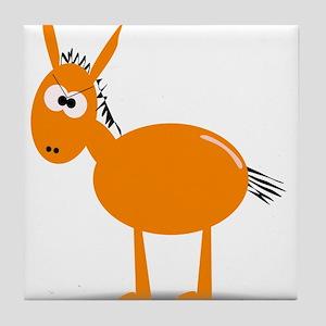 Cartoon Mule Tile Coaster