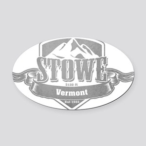 Stowe Vermont Ski Resort 5 Oval Car Magnet