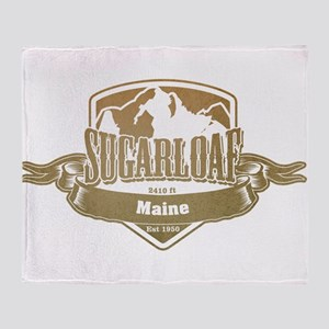 Sugarloaf Maine Ski Resort 4 Throw Blanket