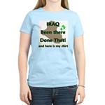Iraq been there done that x3 ver2 Women's Pink T-