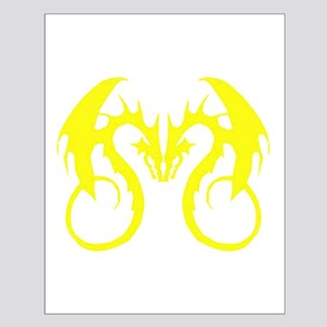 Yellow Love Dragons Small Poster