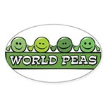 World Peas Oval Sticker