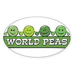 World Peas Oval Sticker