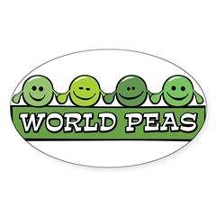 World Peas Oval Decal