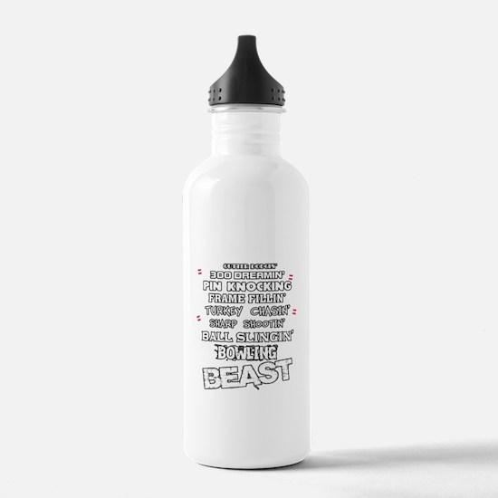 Cute Bowling funny Water Bottle