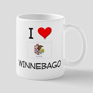 I Love WINNEBAGO Illinois Mugs