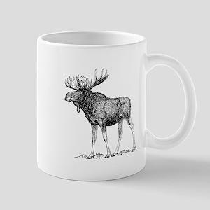 Moose Sketch Mugs