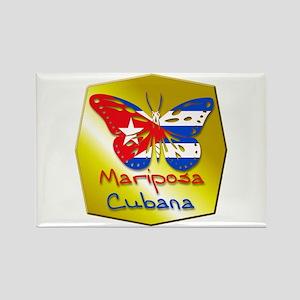 Mariposa Cubana Rectangle Magnet