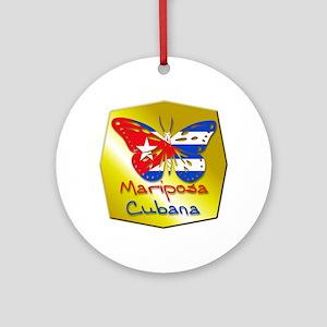 Mariposa Cubana Ornament (Round)