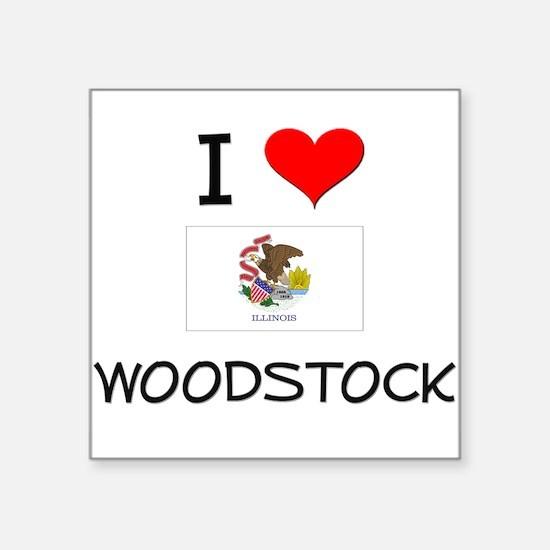 I Love WOODSTOCK Illinois Sticker