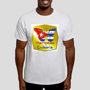 Mariposa Cubana Ash Grey T-Shirt