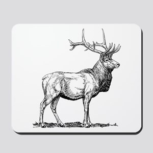 Elk Sketch Mousepad