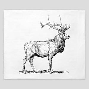 Elk Sketch King Duvet