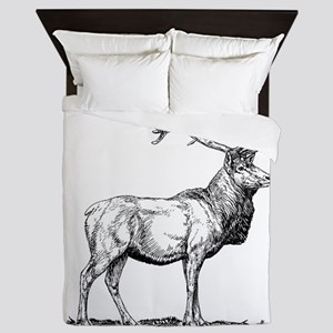 Elk Sketch Queen Duvet