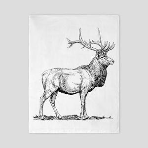 Elk Sketch Twin Duvet
