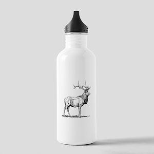 Elk Sketch Sports Water Bottle