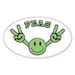 Peas Oval Sticker
