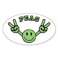 Peas Oval Decal