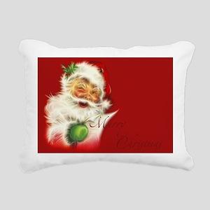 Fractal Santa Rectangular Canvas Pillow