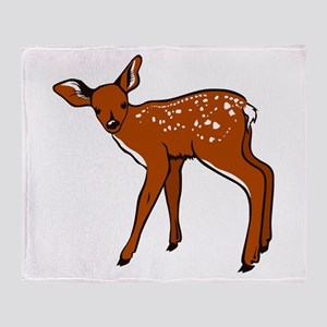 Brown Fawn Throw Blanket