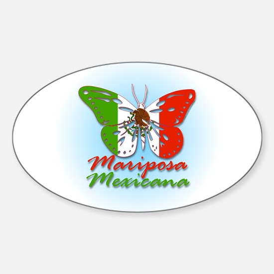 Mariposa Mexicana Oval Decal