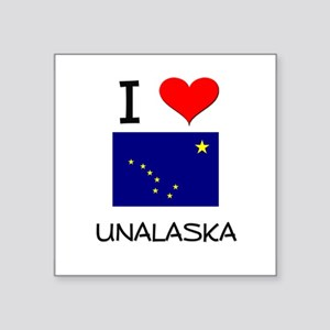I Love UNALASKA Alaska Sticker
