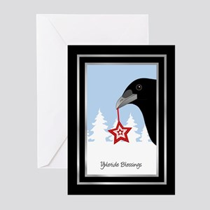 Wiccan greeting cards cafepress yuletide crow greeting cards pk of 20 m4hsunfo