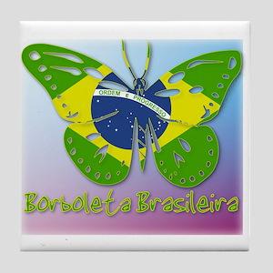 Borboleta Brasileira Tile Coaster