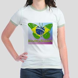 Borboleta Brasileira Jr. Ringer T-Shirt