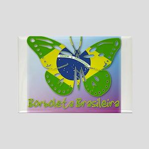 Borboleta Brasileira Rectangle Magnet