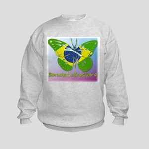Borboleta Brasileira Kids Sweatshirt